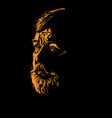 old man portrait silhouette in contrast backlight vector image
