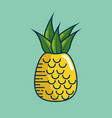 pineapple fresh fruit handmade drawn vector image vector image