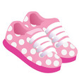 pink childrens or young adult shoes pair kids vector image