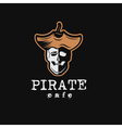pirate cafe vector image