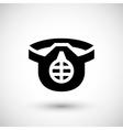 Protective respirator icon vector image vector image