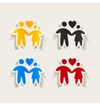 realistic design element family vector image vector image