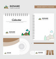 scenery logo calendar template cd cover diary and vector image