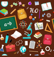 seamless geometric pattern back in school vector image