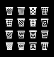 Set icons of trash basket vector image vector image