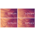 set of abstract wavy backgrounds trendy vector image