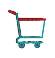 shopping cart online delivery market empty sketch vector image
