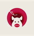 sign head pig icon pig isolated head pig in the vector image