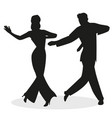silhouettes young couple dressed in retro vector image