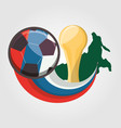 soccer world cup russia design vector image vector image
