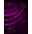 Stars on purple wavy mesh background vector image vector image