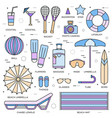 summer travel infographic icons items banners vector image vector image
