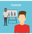 teamwork people business icon vector image