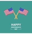 Two waving flags Happy independence day United vector image