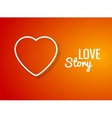 valentine background with heart shape love story vector image