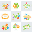 vitamins logo set of colorful vector image