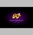 vo v o 3d gold golden alphabet letter metal logo