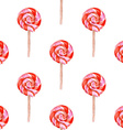 Watercolor tasty lollipop in vintage style vector image