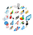 web project icons set isometric style vector image vector image