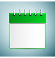Calendar icon isolated on blue background vector image