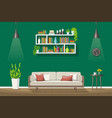 interior equipment of a modern living room vector image