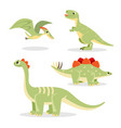 dinosaurs collection of funny icons on vector image