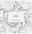 abstract of marble black and white background vector image