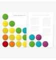 Abstract template flyer vector image vector image