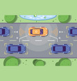 autonomous car driving on road vector image