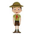 avatar boy with colorful clothes and hat vector image vector image