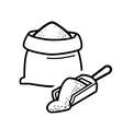 bag flour vector image vector image
