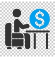 Banker Office Icon vector image