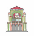 baroque theater vector image