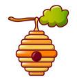 bee hive icon cartoon style vector image