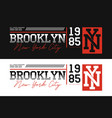 Brooklyn nyc athletic typography for t-shirt