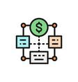bulk payment mass cashout flat color line vector image