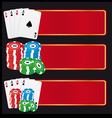 casino banners vector image