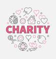 charity round in outline style vector image vector image