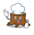chef tree stump character cartoon vector image vector image
