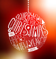 christmas ball with new year lettering vector image vector image
