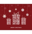 christmas decoration with gift boxes vector image vector image