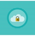 Cloud security flat icon vector image vector image