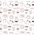 coffee seamless pattern with cappuccino cups vector image vector image
