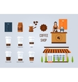 Coffee shop design elements Young vector image