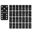 collection domino set with black spot vector image