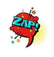 comic speech chat bubble pop art style zap vector image