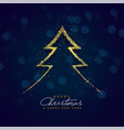 creative christmas tree design made with particles vector image
