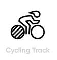 cycling track sport icons vector image vector image