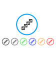 dash block chain rounded icon vector image vector image