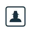 detective icon Rounded squares button vector image vector image
